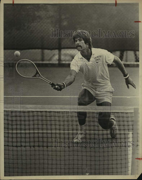1975 Press Photo Trinity college tennis player David King - sas16661 - Historic Images