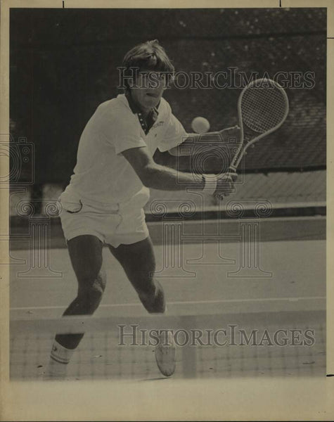 1975 Press Photo Trinity college tennis layer David King - sas16662 - Historic Images