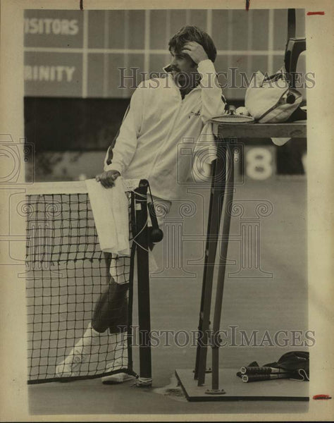 1975 Press Photo Trinity college tennis player David King - sas16664 - Historic Images