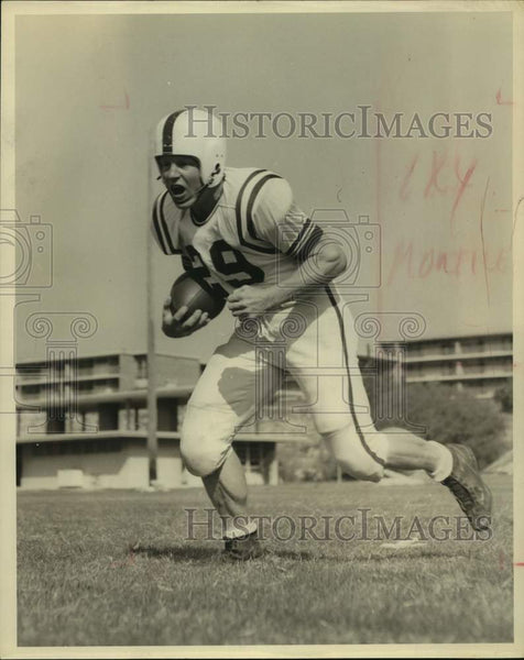Press Photo Trinity college football player Felix Kaluper - sas16679 - Historic Images