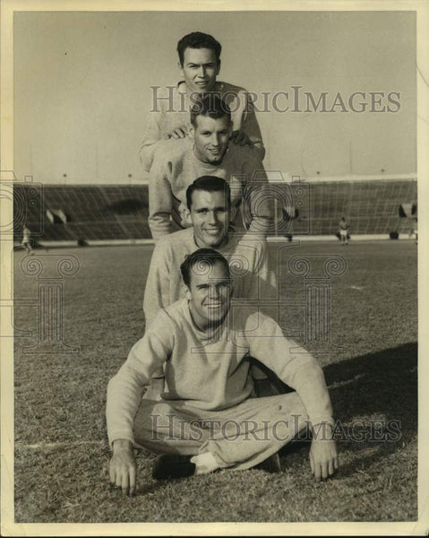 Press Photo A trio of Texas Longhorns football players - sas16735 - Historic Images