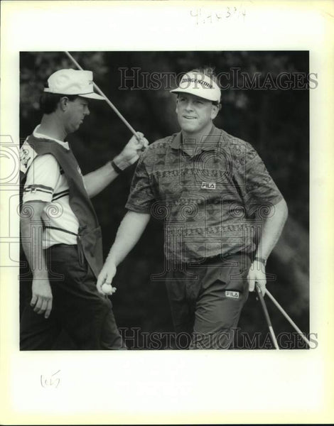 1991 Press Photo Golfer Mark Calcavecchia plays the Texas Open - sas16758 - Historic Images