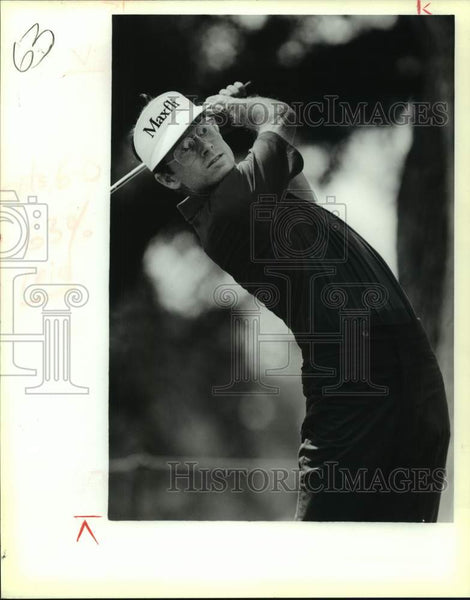 1990 Press Photo Golfer Mike Reid plays the Texas Open - sas16761 - Historic Images