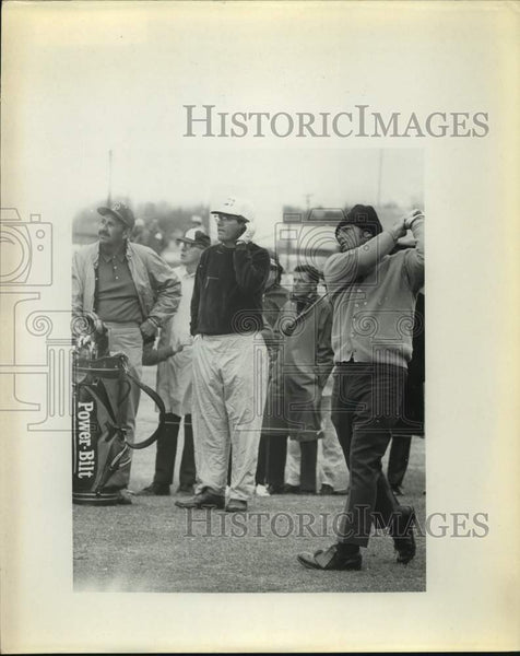 Press Photo Golfers Beard and Rodgers in action - sas16785 - Historic Images
