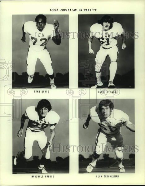 Press Photo Texas Christian college football players - sas16795 - Historic Images