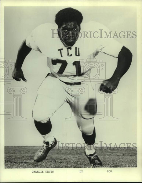 Press Photo Texas Christian college football player Charlie Davis - sas16800 - Historic Images