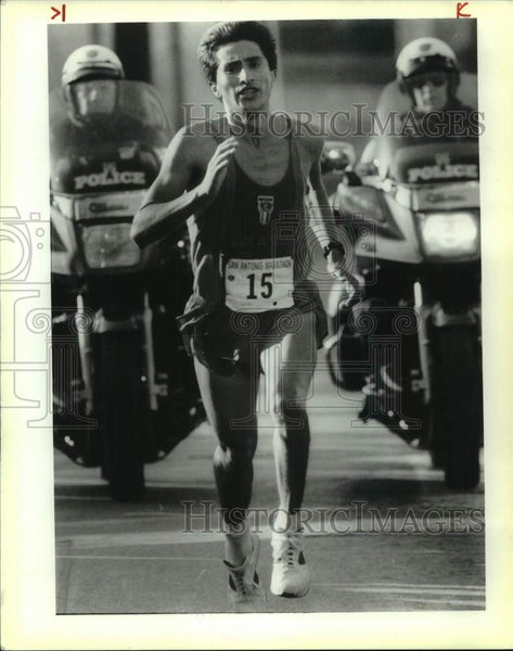1991 Press Photo San Antonio Marathon winner Alberto Puente - sas16807 - Historic Images