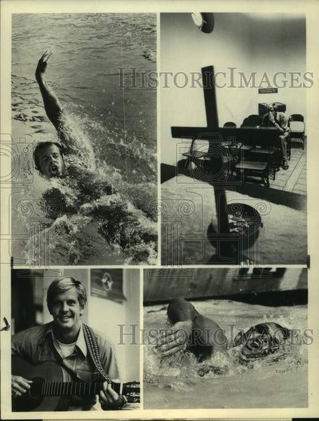 1976 Press Photo American Olympic swimmer John Naber - sas16828 - Historic Images