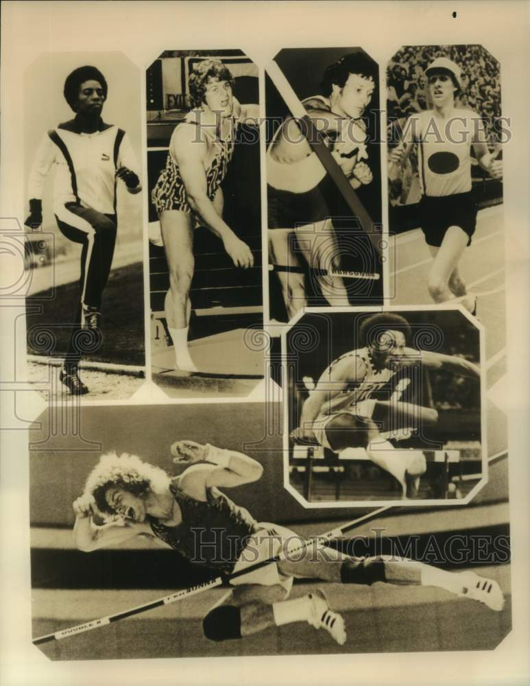 1976 Press Photo Athletes to compete in the Pro Track Classic at Texas Stadium - Historic Images