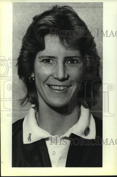 1986 Press Photo Clark High girls basketball coach Janice Miller - sas16858 - Historic Images