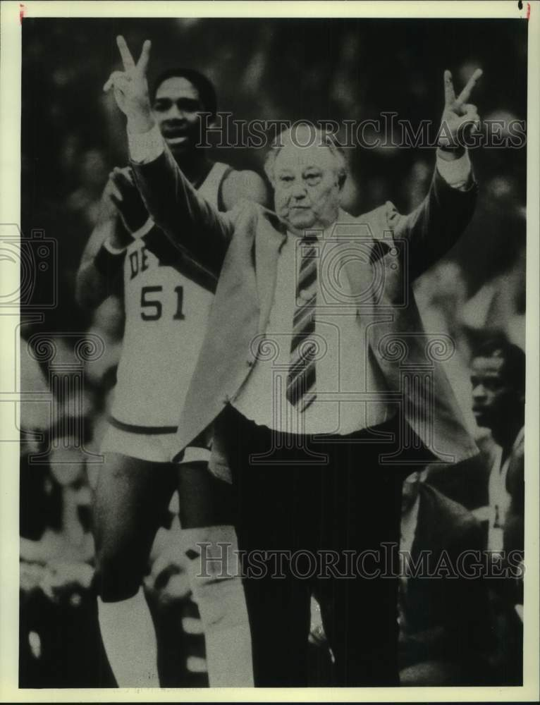 1984 Press Photo DePaul college basketball coach Ray Meyer - sas16859 - Historic Images