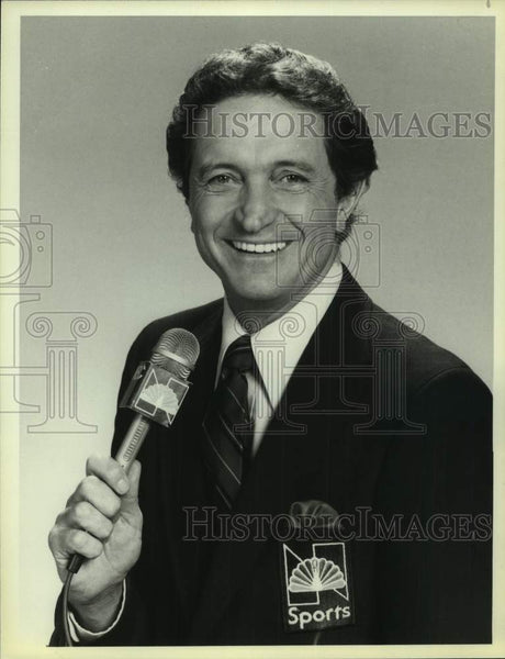 1983 Press Photo NBC Sports college basketball commentator Al McGuire - Historic Images