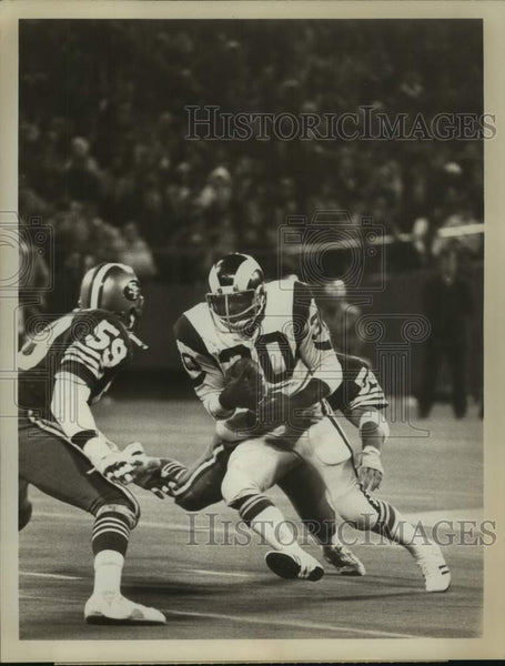 1976 Press Photo Los Angeles Rams football player Lawrence McCutcheon - Historic Images