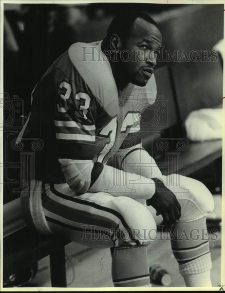 1986 Press Photo Houston Oilers football player Mike Rozier - sas16925 - Historic Images