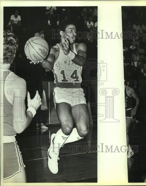 1984 Press Photo St. Mary's college basketball player Quan Roseboro - sas16987 - Historic Images