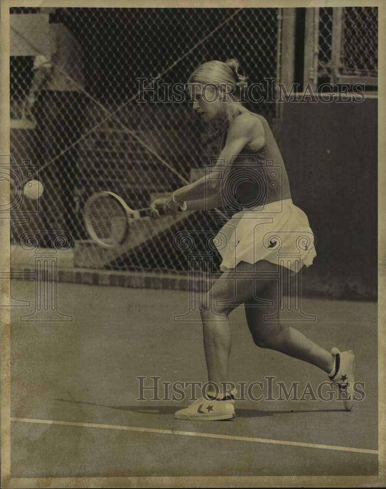 1978 Press Photo Tennis player Stacy Margolia in action - sas16993 - Historic Images