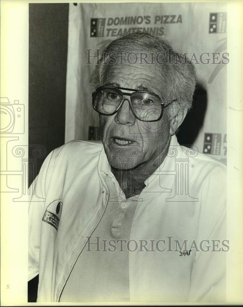 1986 Press Photo Team tennis investor Leo Rose - sas17010 - Historic Images