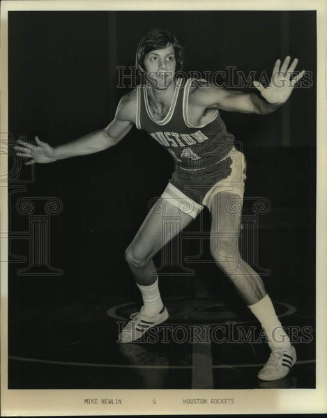 Press Photo Houston Rockets basketball player Mike Newlin - sas17012 - Historic Images
