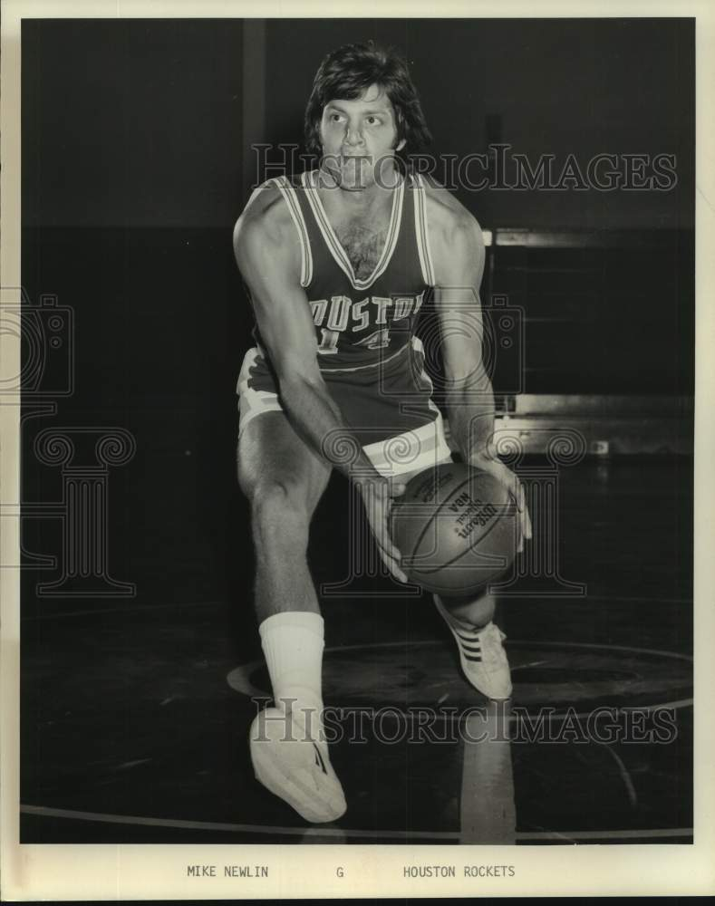 Press Photo Houston Rockets basketball player Mike Newlin - sas17017 - Historic Images