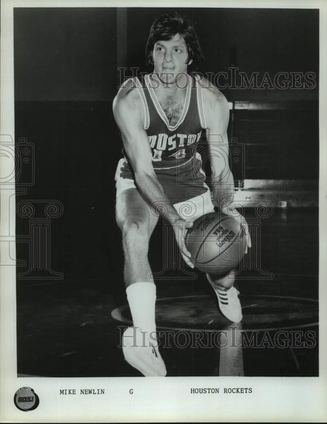 Press Photo Houston Rockets basketball player Mike Newlin - sas17018 - Historic Images
