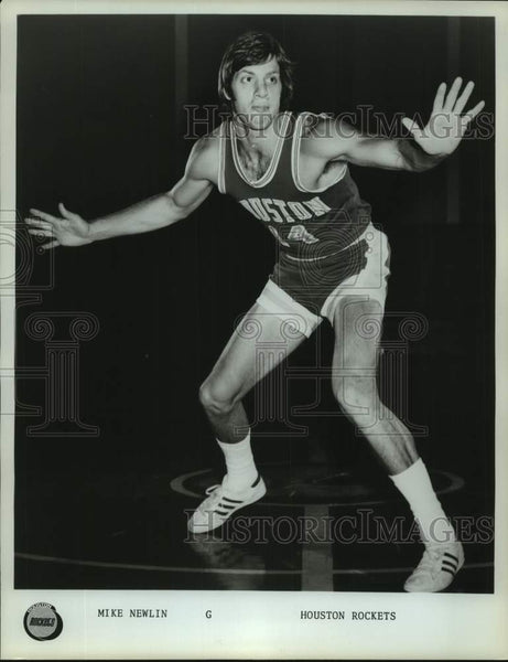 Press Photo Houston Rockets basketball player Mike Newlin - sas17019 - Historic Images