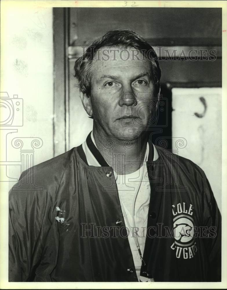 1987 Press Photo Cole High coach Dave Madura - sas17037 - Historic Images