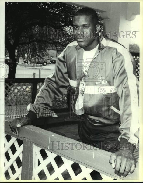 1991 Press Photo Basketball star Shaquille O'Neal - sas17039 - Historic Images