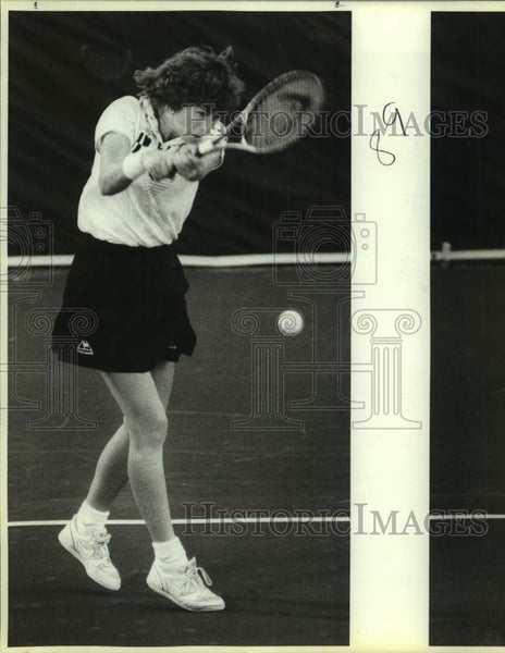 1987 Press Photo San Antonio Racquets team tennis player Gretchen Magers - Historic Images