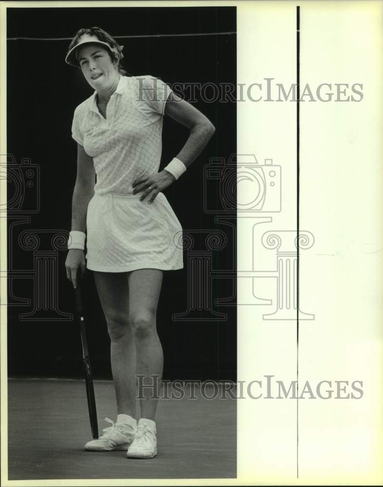 1986 Press Photo Trinity tennis player Gretchen Rush plays NCAA FInals in Austin - Historic Images