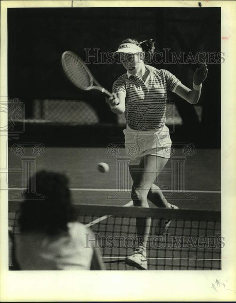 1984 Press Photo Tennis player Gretchen Rush in action - sas17056 - Historic Images