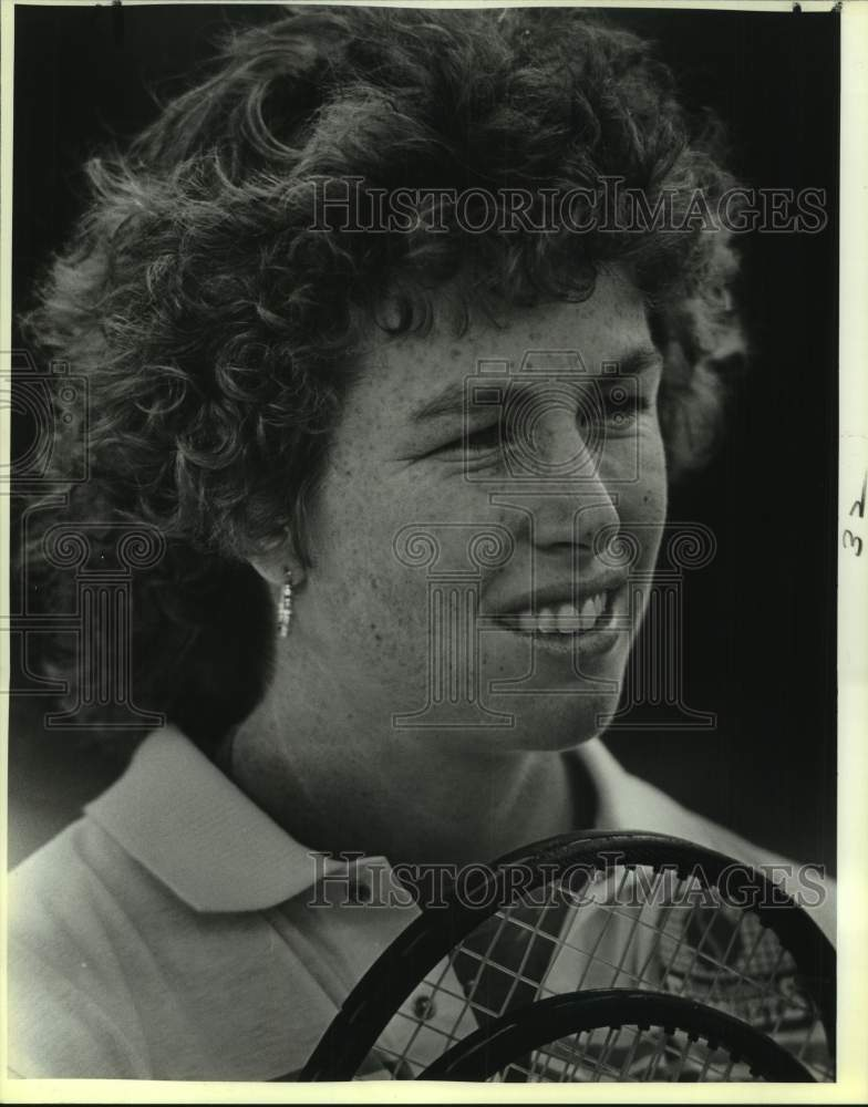 1987 Press Photo Tennis player Gretchen Rush Magers - sas17057 - Historic Images