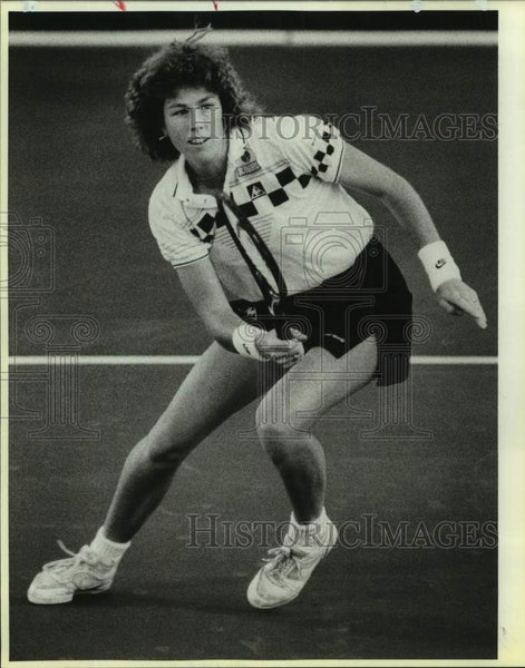 1987 Press Photo San Antonio Racquets team tennis player Gretchen Rush-Magers - Historic Images