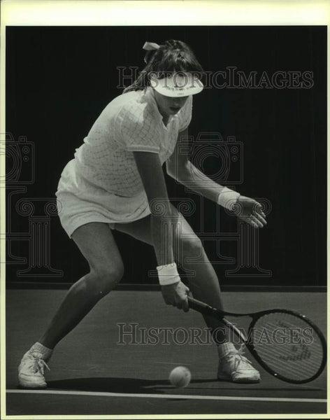 1986 Press Photo Gretchen Rush of Trinity plays NCAA Finals in Austin - Historic Images