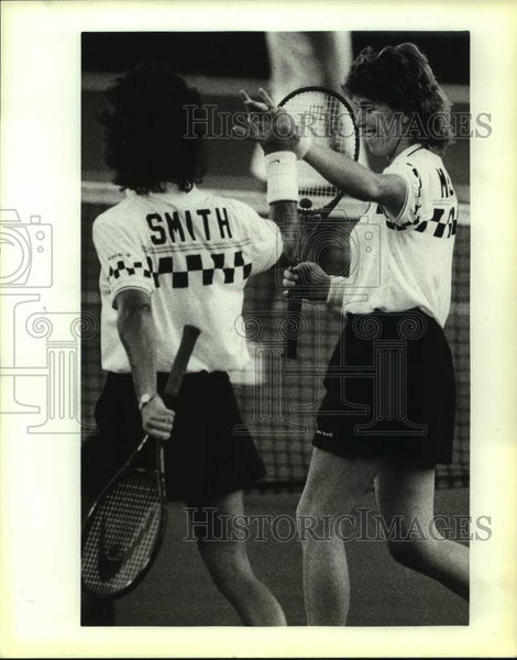 1987 Press Photo San Antonio Racquets tennis Gretchen Rush Magers and Ann Smith - Historic Images