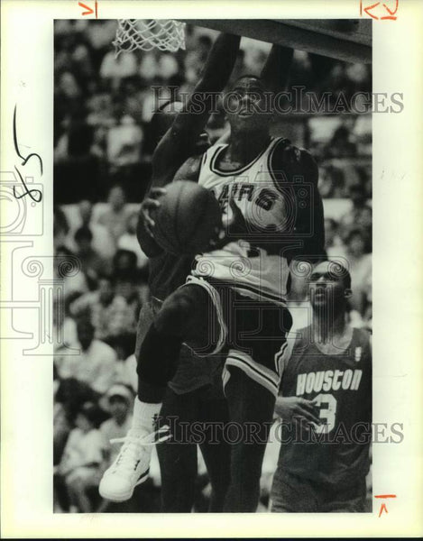 1989 Press Photo San Antonio Spurs basketball player Vernon Maxwell vs. Houston - Historic Images