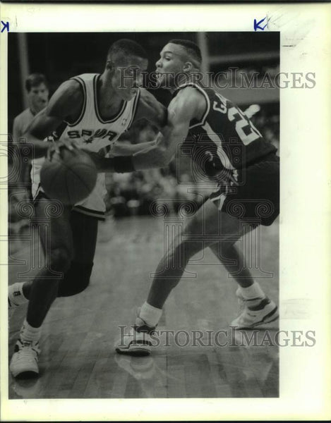 1988 Press Photo Los Angeles Clippers and San Antonio Spurs play NBA basketball - Historic Images