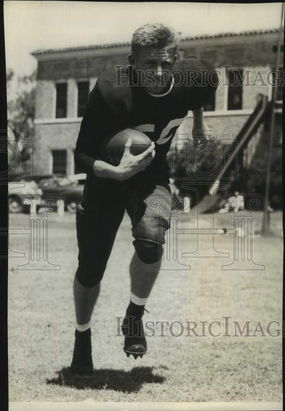 Press Photo Football player Ed Matteson - sas17090 - Historic Images