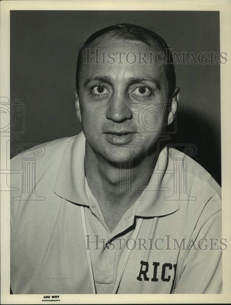 Press Photo Rice University basketball coach Don Knodel - sas17111 - Historic Images