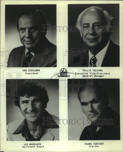 Press Photo Seattle SuperSonics basketball personnel - sas17118 - Historic Images