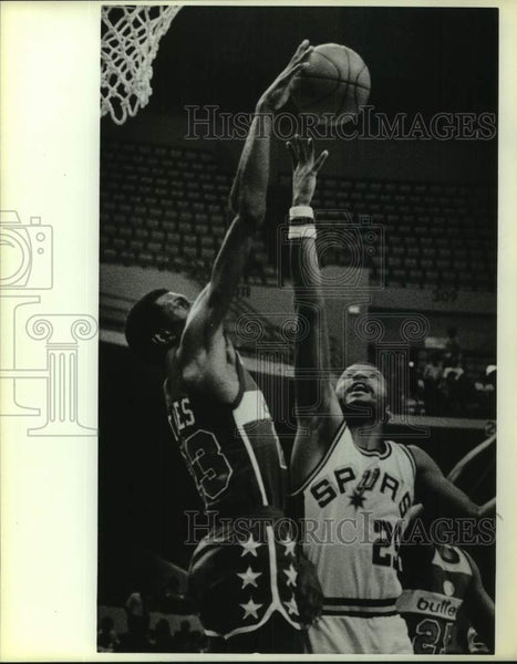 1984 Press Photo San Antonio Spurs basketball player Billy Knight in action - Historic Images