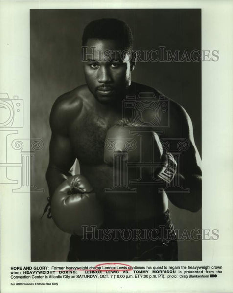 Press Photo Former heavyweight boxing champion Lennox Lewis - sas17161 - Historic Images