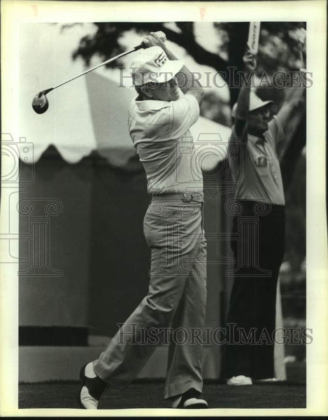 1985 Press Photo Golfer Gene Littler in action - sas17173 - Historic Images