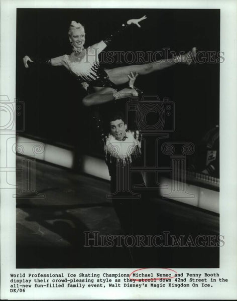 Press Photo Champion figure skaters Michael Nemec and Penny Booth in New York - Historic Images