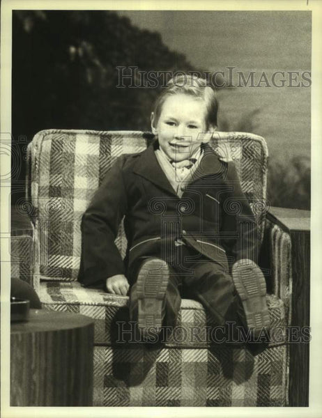 "1979 Press Photo Pool player Aaron Rudnicki, age 5, on ""Real People"" - sas17188 - Historic Images"