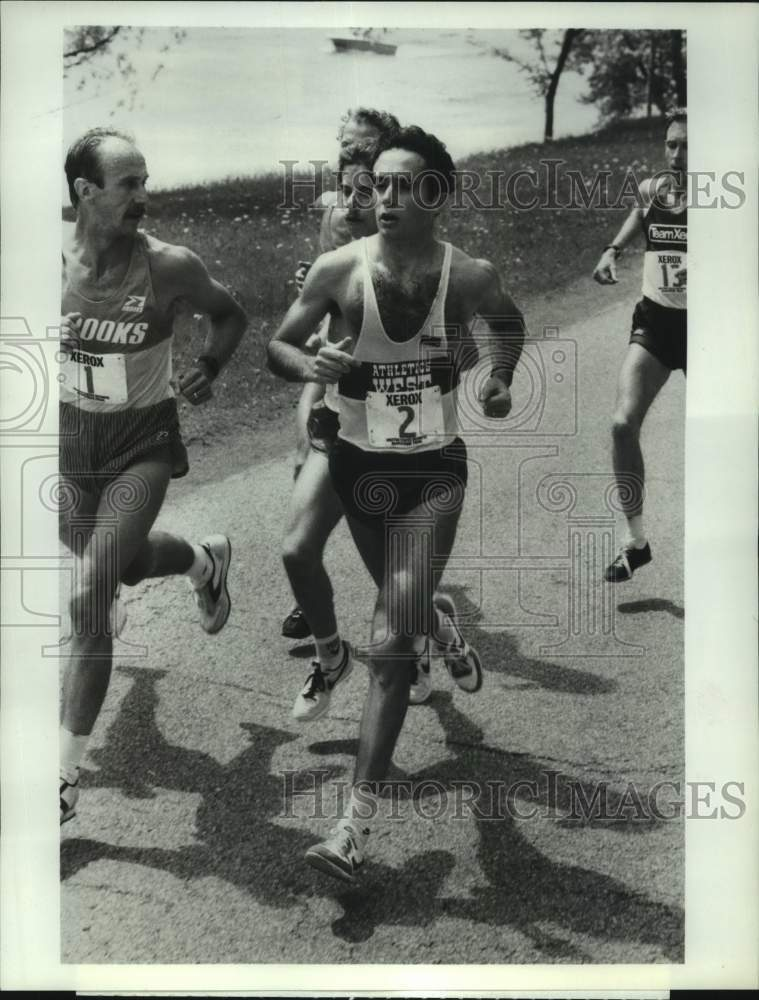 1984 Press Photo American Olympic marathon runner Alberto Salazar of Oregon - Historic Images