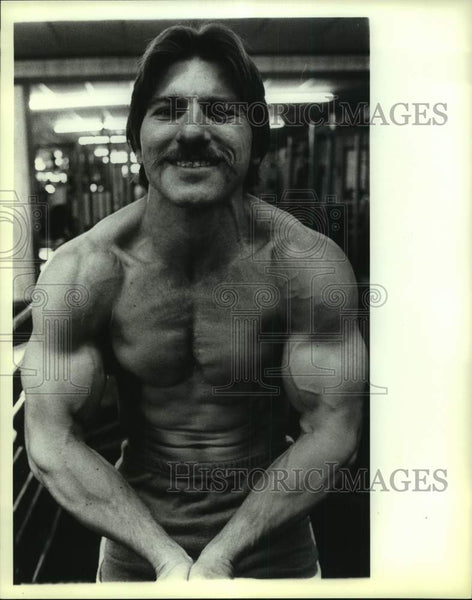 1982 Press Photo Bodybuilder Terry Scheibel at Olympic Fitness Center - Historic Images