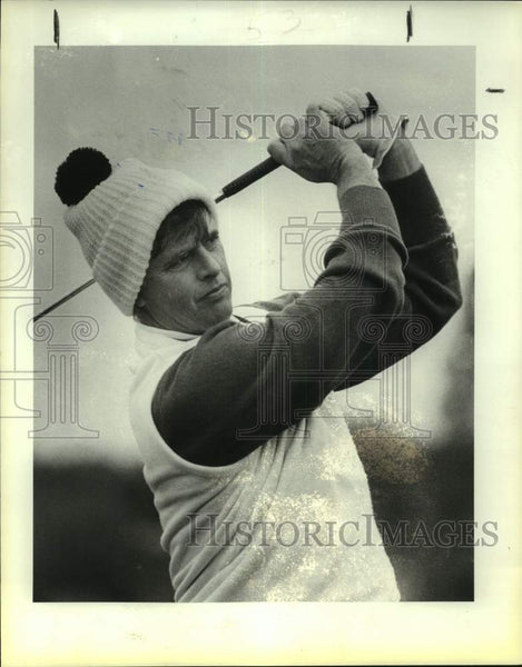 1986 Press Photo Golfer Mike Hill at Woodlake Country Club - sas17213 - Historic Images