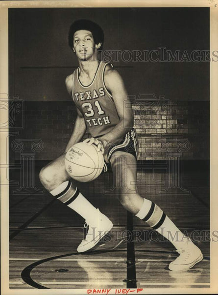 Press Photo Texas Tech college basketball player Danny Ivey - sas17224 - Historic Images