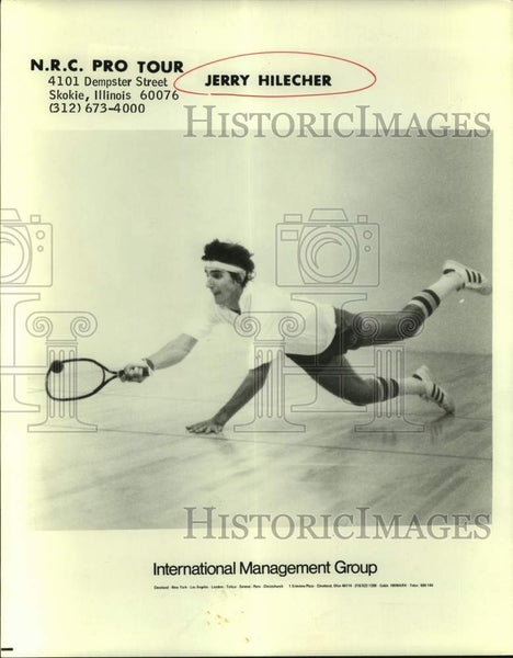 Press Photo Professional racquetball player Jerry Hilecher - sas17238 - Historic Images