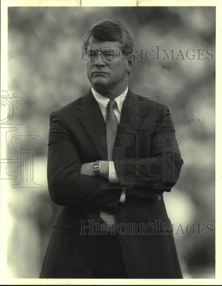 1988 Press Photo Denver Broncos football coach Dan Reeves - sas17244 - Historic Images